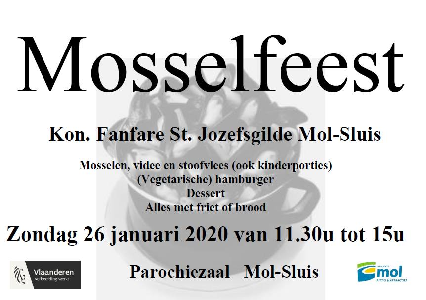 Affiche Mosselfeest 26 januari 2020